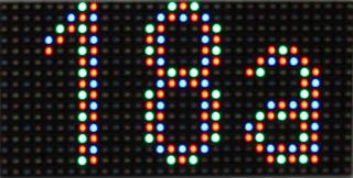 wyświetlacz numerów 32x16 RGB 25x12,5cm
